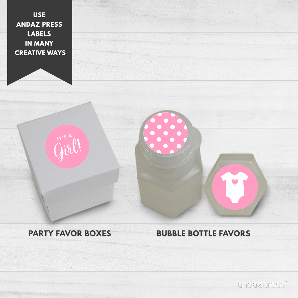 Andaz Press Hershey Kiss Labels Girl Baby Shower Andaz Press