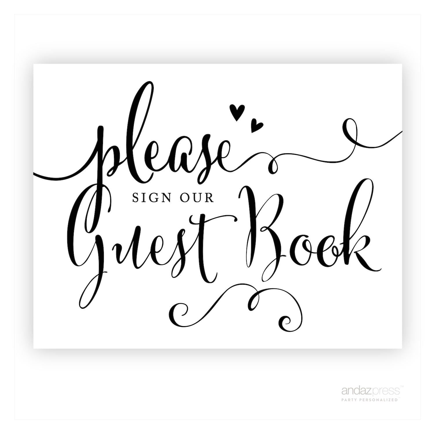 It is a graphic of Please Sign Our Guestbook Free Printable for private wedding