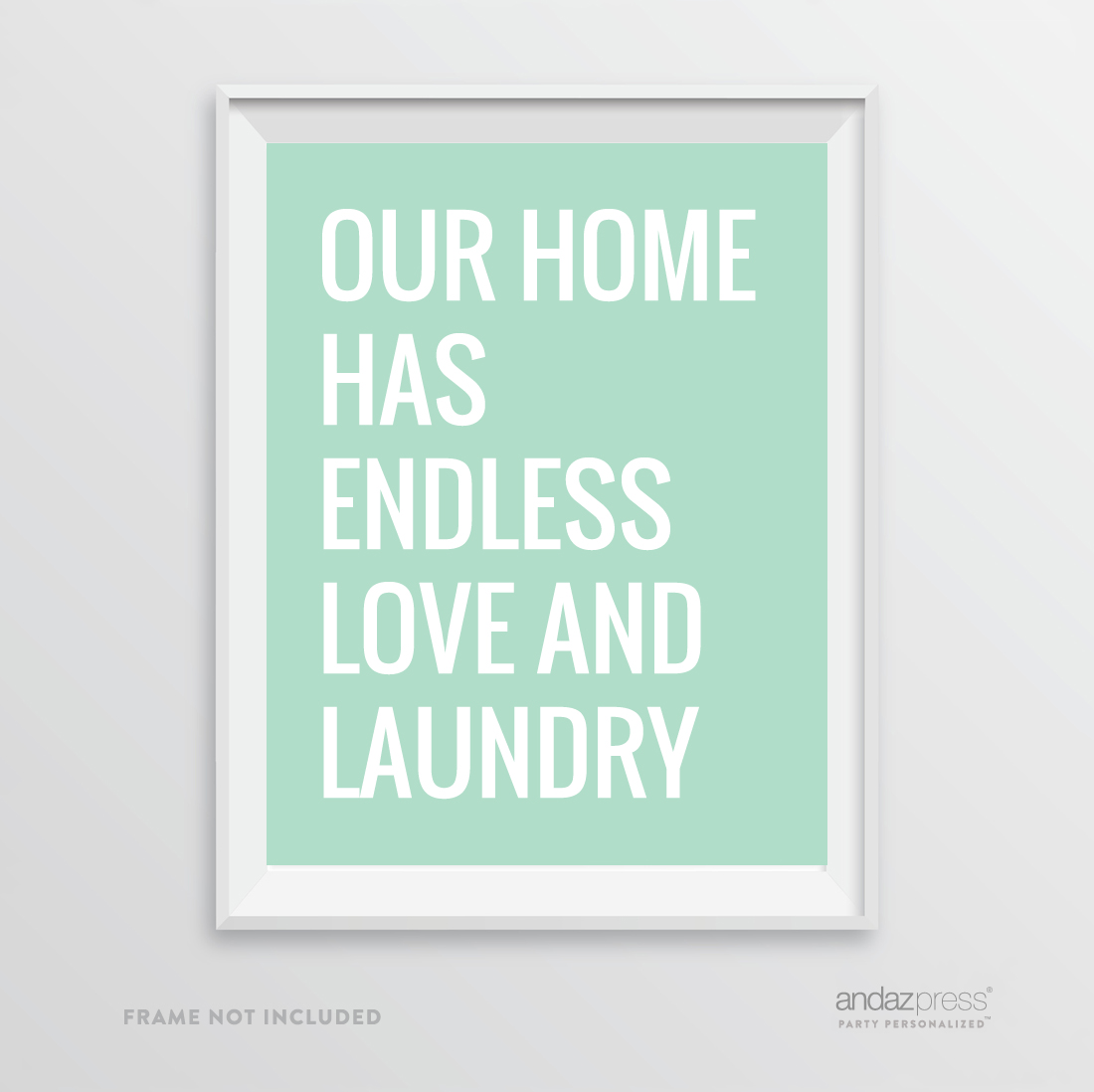 andaz press laundry room wall art decor signs 8 5 x 11