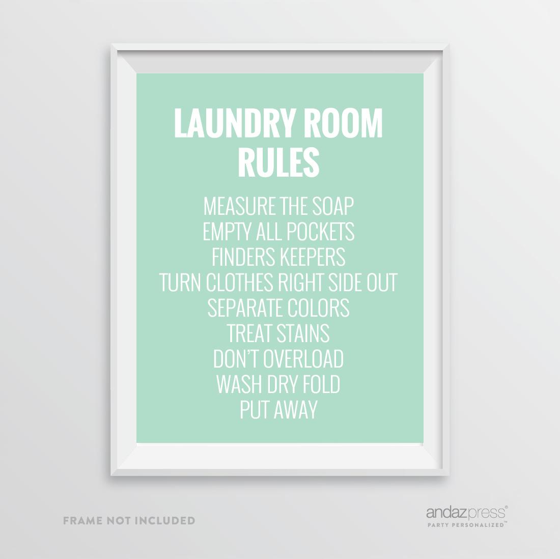 Andaz Press Laundry Room Wall Art Decor Signs 8 5 X 11