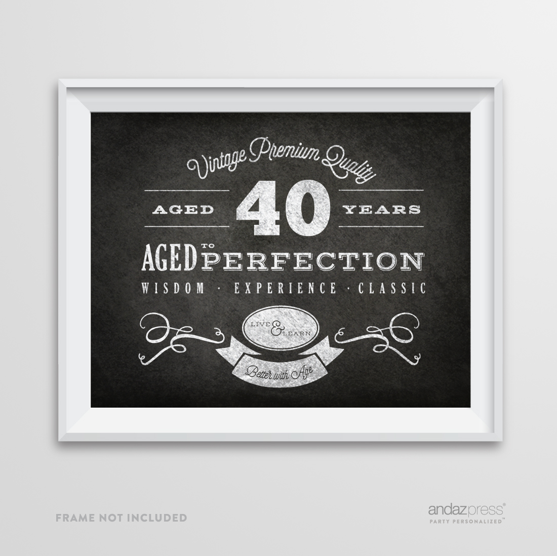 Andaz Press Milestone Birthday Wall Art Poster Signs