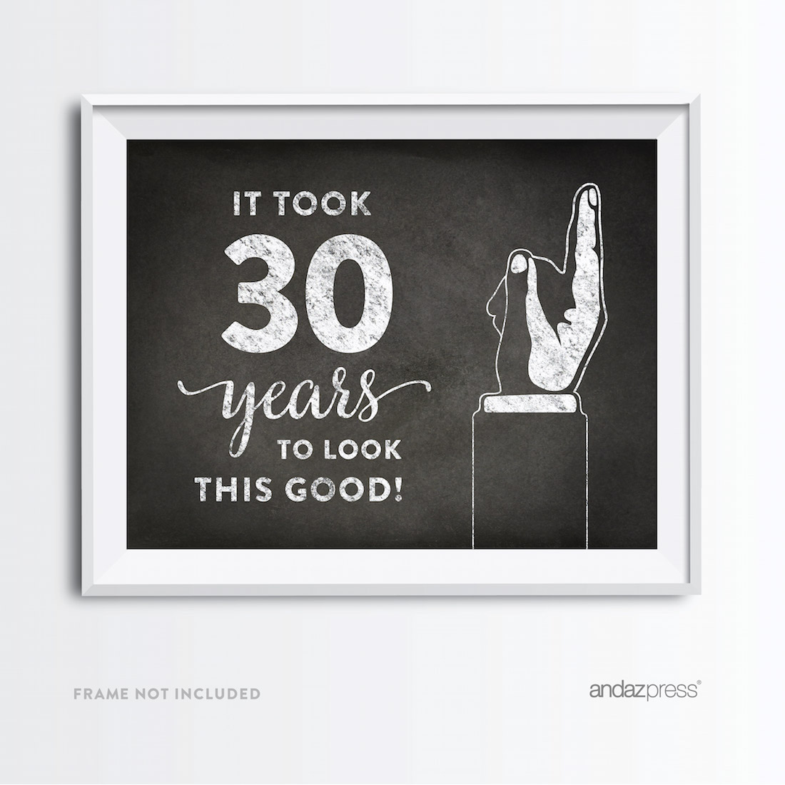 Andaz Press Milestone Birthday Wall Art Poster Signs 40th Gifts Decorations And Party Decor It Took 40 Years To Look This Good Print 1 Pack