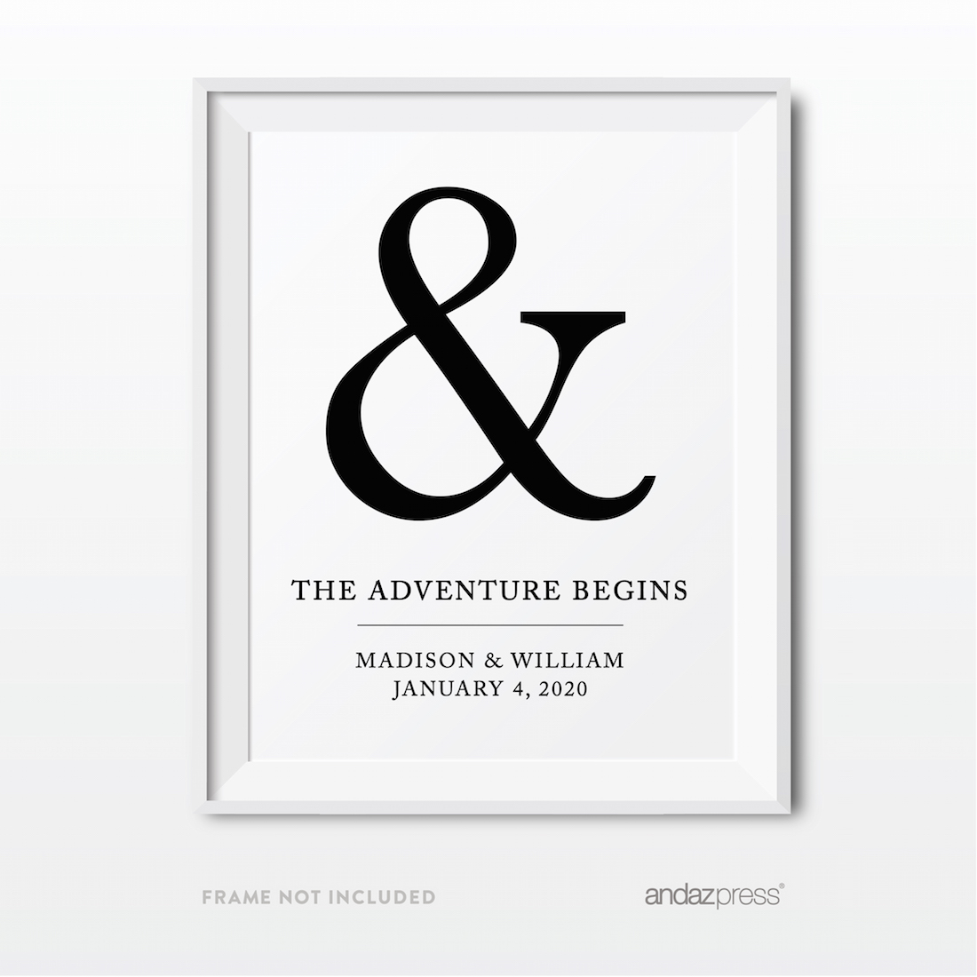 Andaz Press Wedding Party Signs, Formal Black and White ... - photo#36