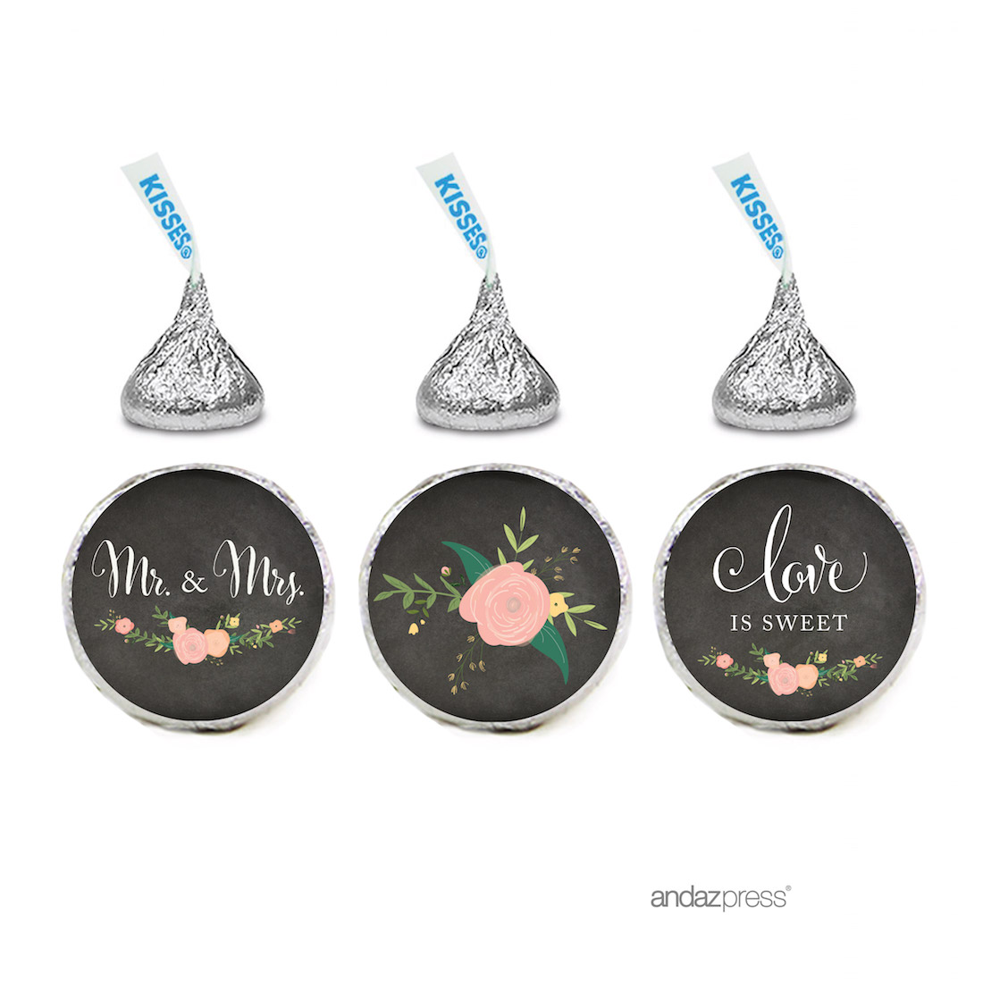 Andaz Press Chalkboard Floral Party Wedding Collection, Chocolate ...