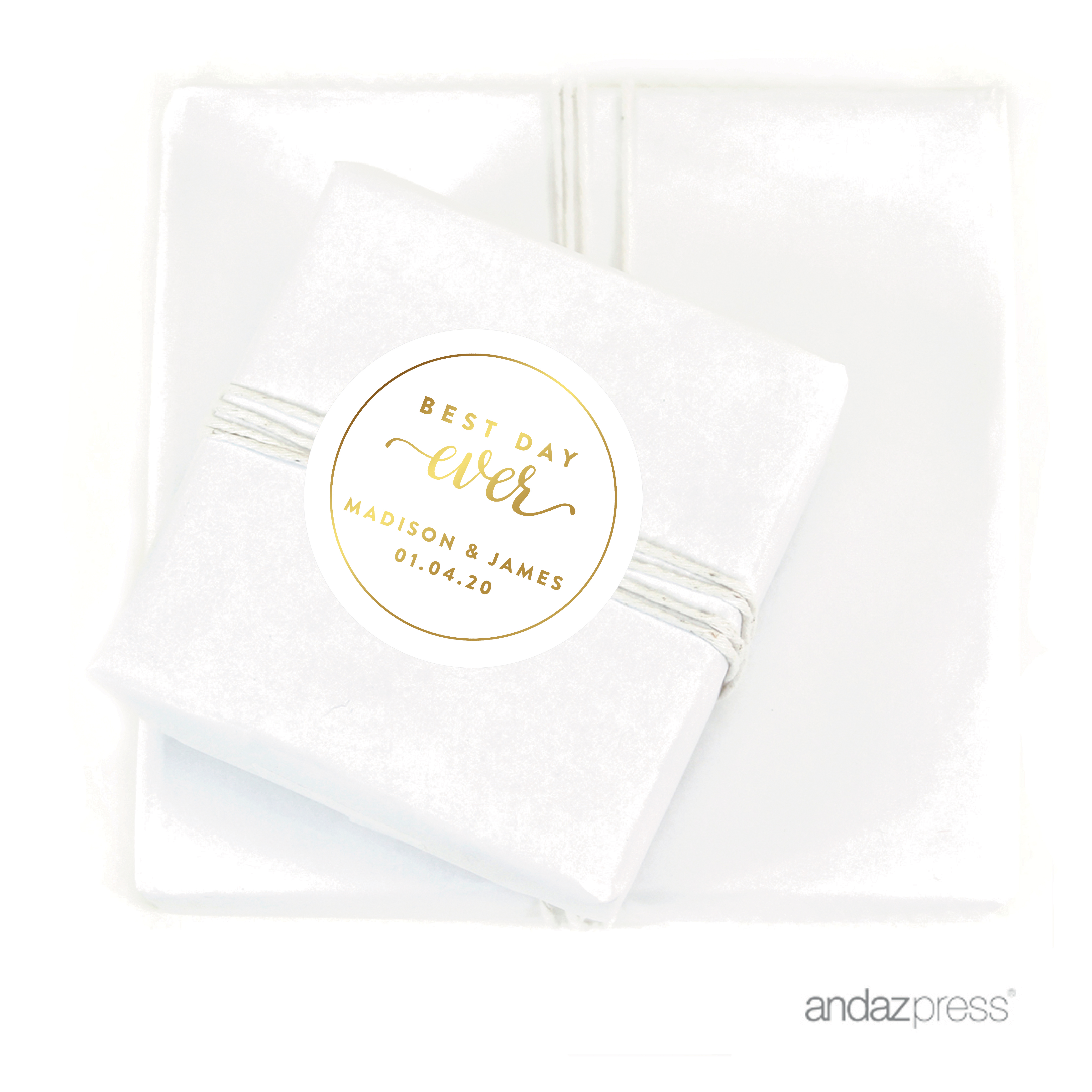 Andaz Press Personalized Round Circle Birthday Favor Gift Labels ...