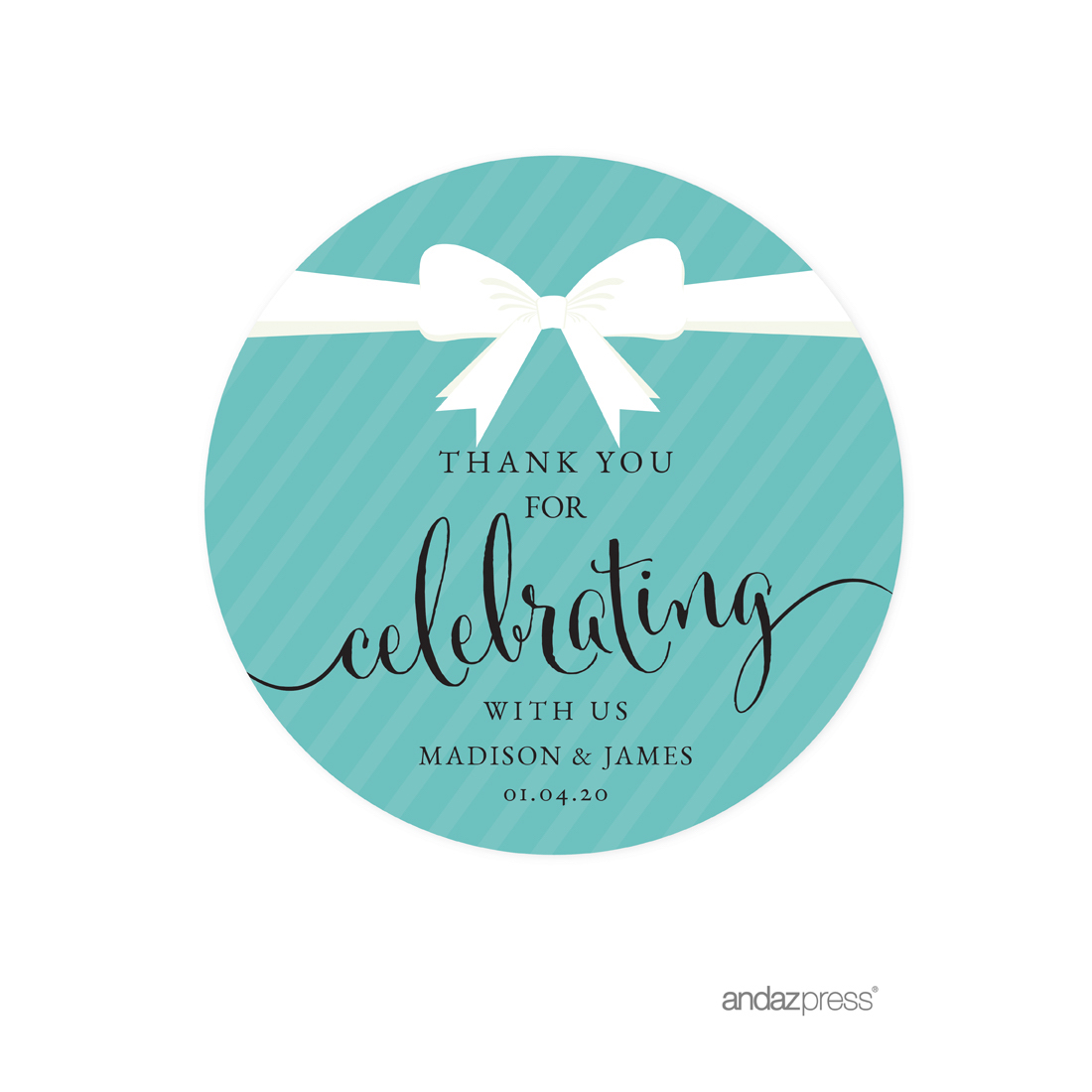 andaz press round circle labels stickers  party  u0026 co